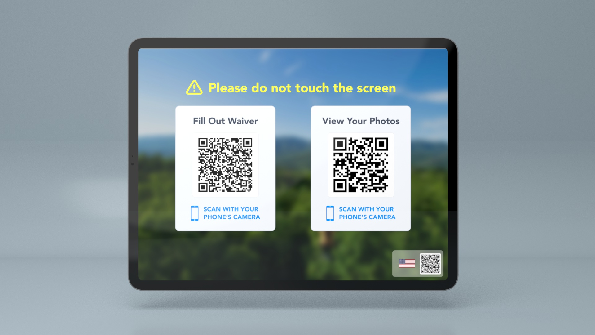contactless waiver and photos